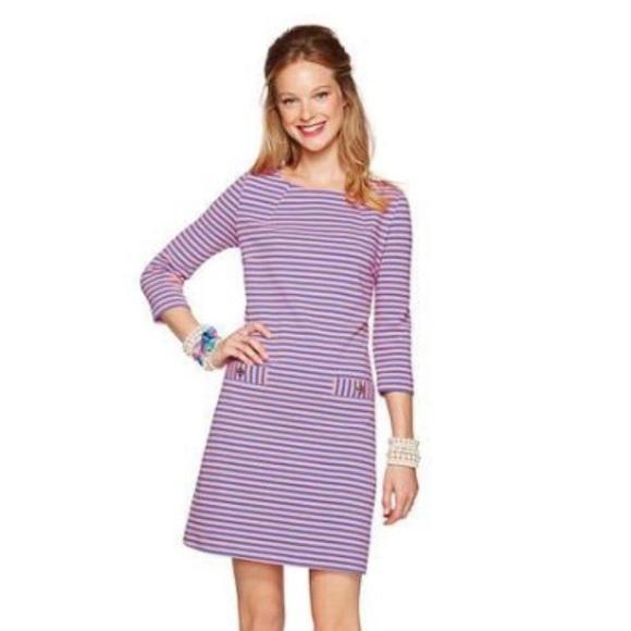 Lilly Pulitzer Dresses Pink And Purple Striped Dress Poshmark